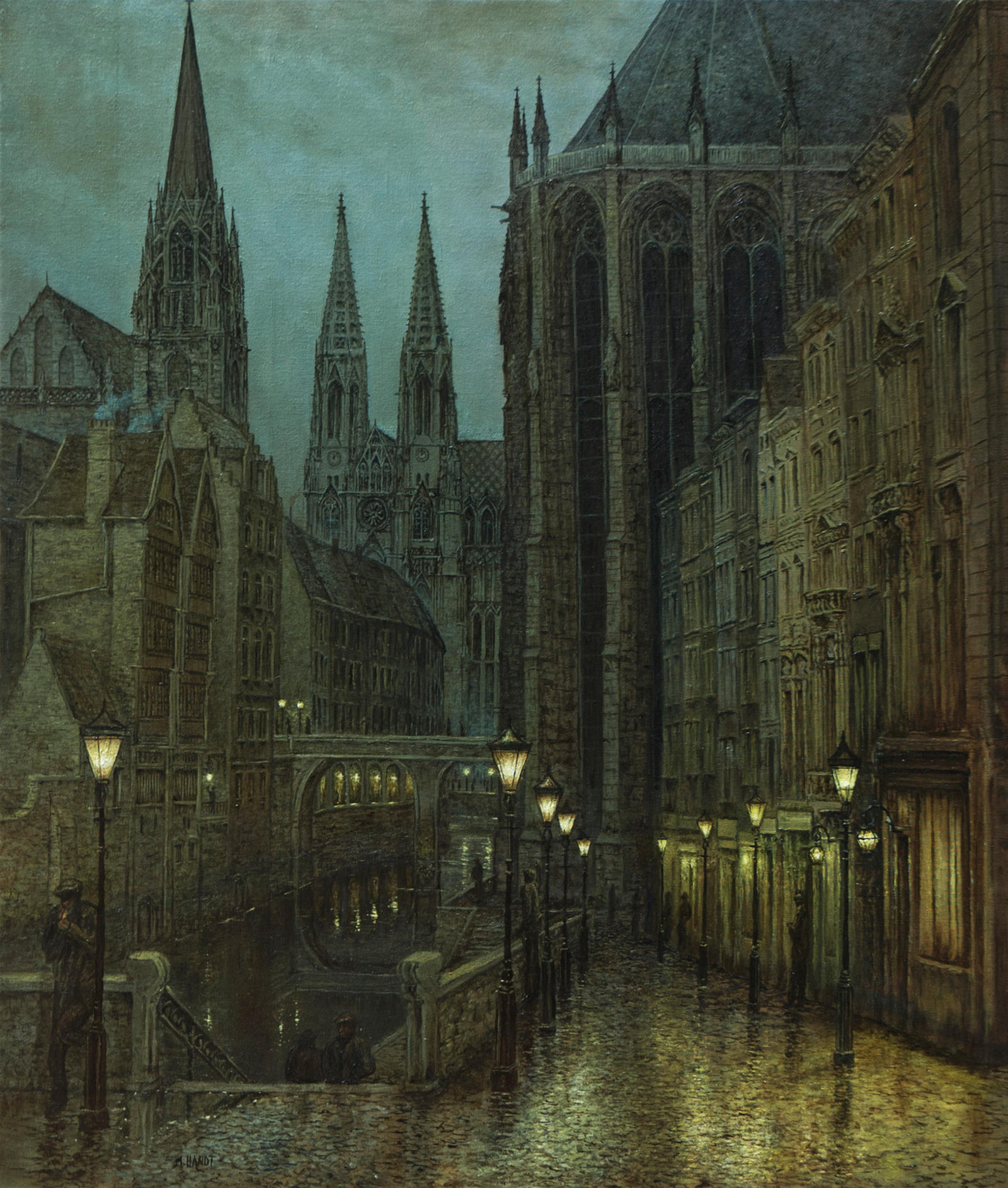 Rainy Night in the Old Quarter by MHandt