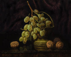 Grapes and walnuts by MHandt