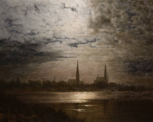 Luebeck in Moonlight - Study