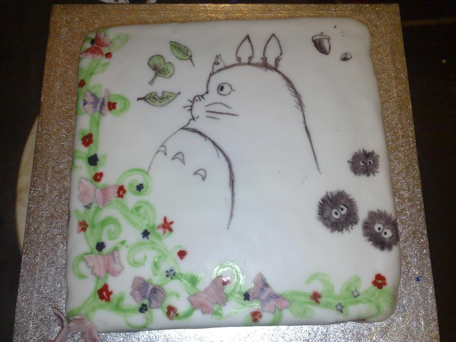 totoro cake by wannabeactor