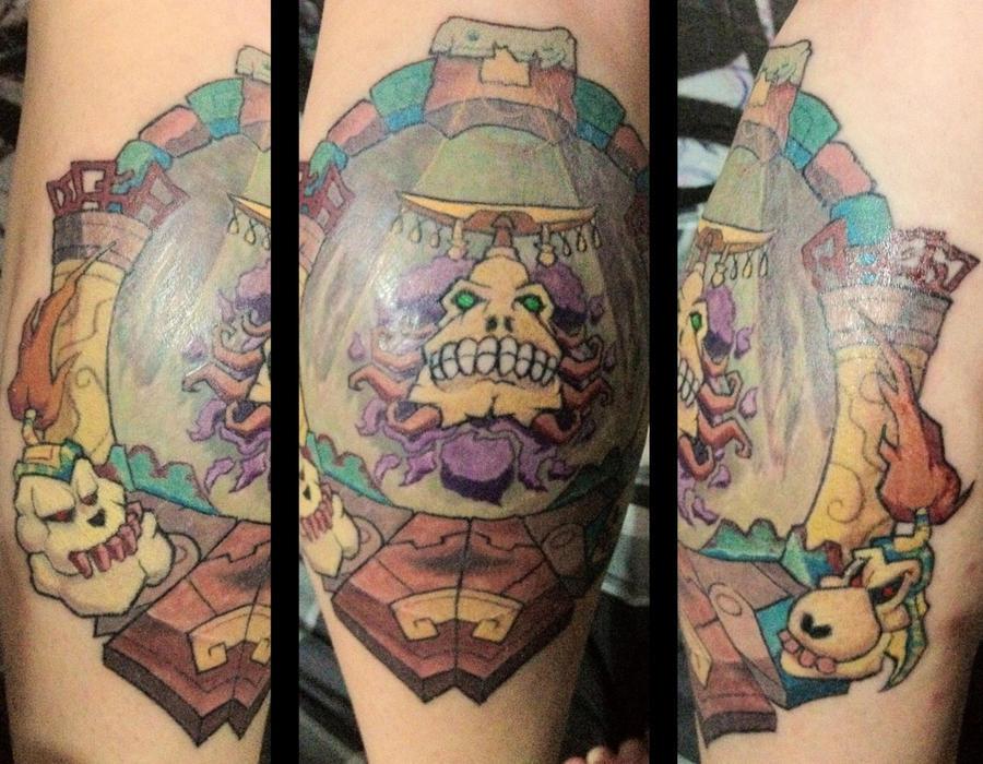 Majora s Mask Igos Du Ikana Tattoo    by chrisaixaMajoras Mask Tattoo