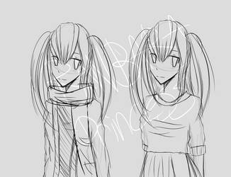 Heroine Concept Sketch 01 by RanbaraPrincess