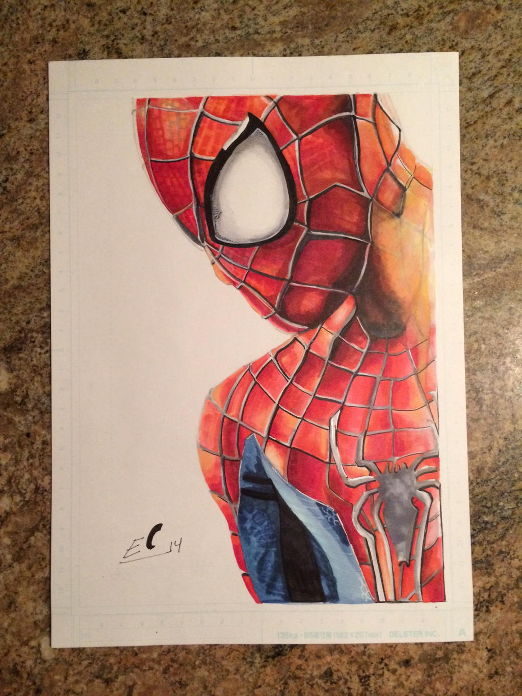 Amazing spider man 2 drawing with copic markers by for Cool things to draw with markers