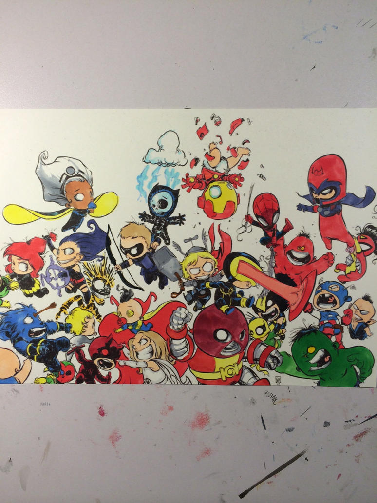 Coloring on Skottie Young 39 s Avengers
