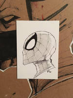 Spider-Man profile sketch card  by ethancastillo