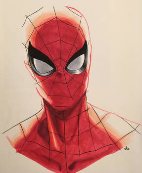 Spider-Man Copic marker drawing