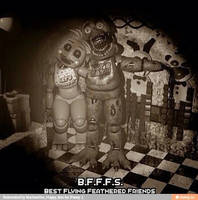 FNAF: Toy Chica and Old Chica by Amy-Rose-Fan123