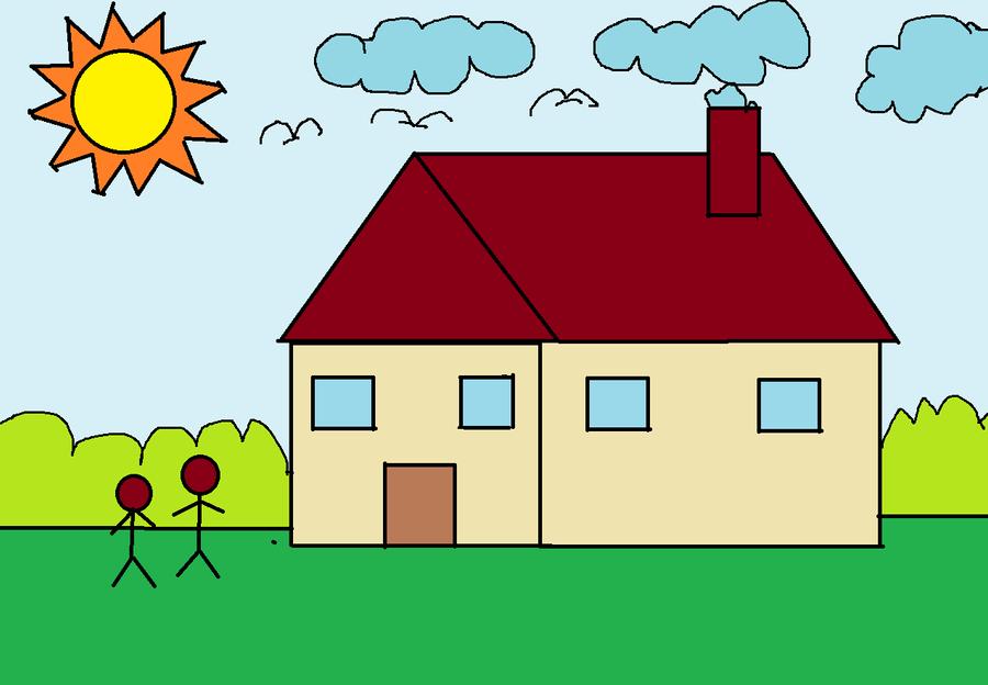 A House On Microsoft Paint