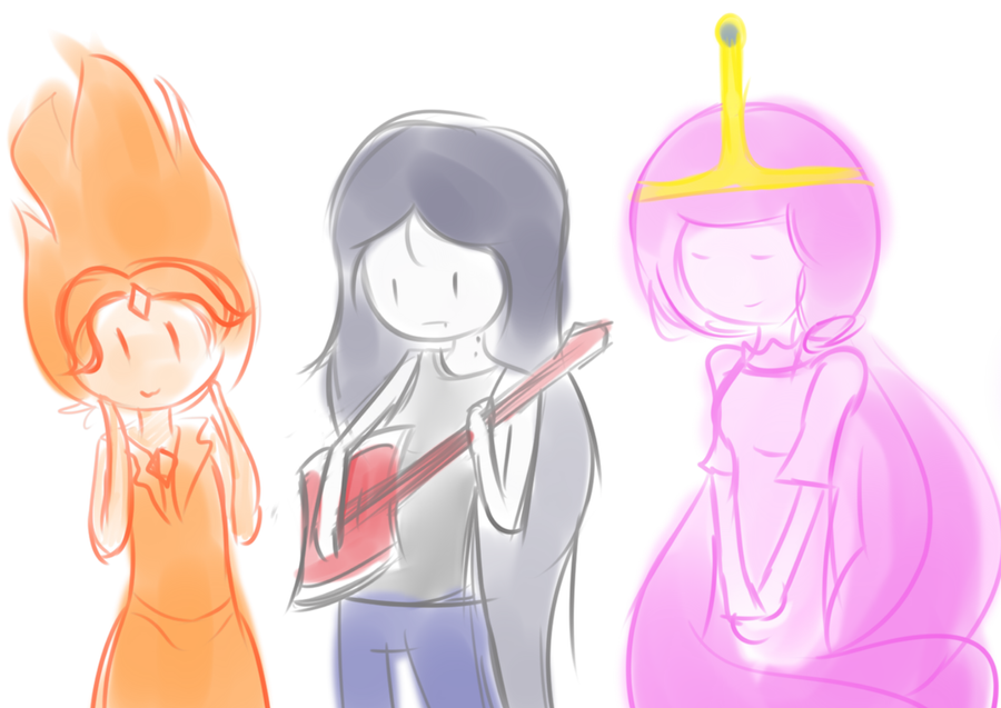 Adventure Time Girls doodle by netnavi20x5