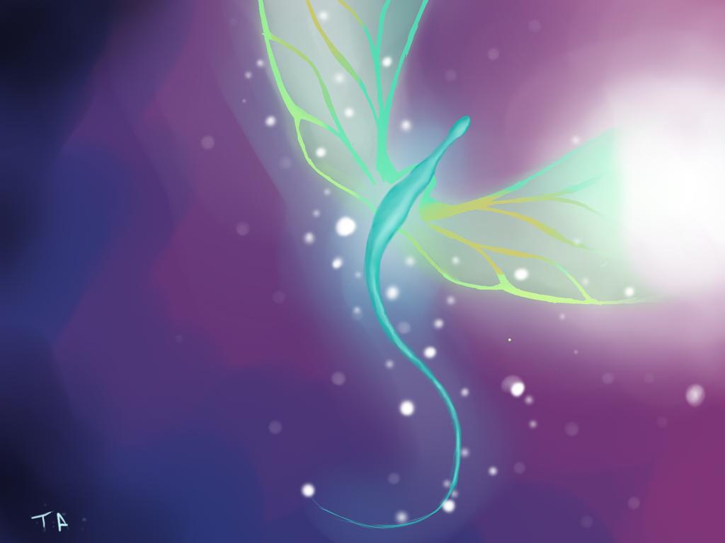 Blue Dragonfly by ThesanArt