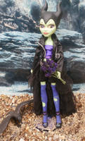 monster high custom repaint daughter of maleficent