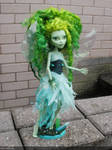 monster high custom doll, Abysinth the green fairy