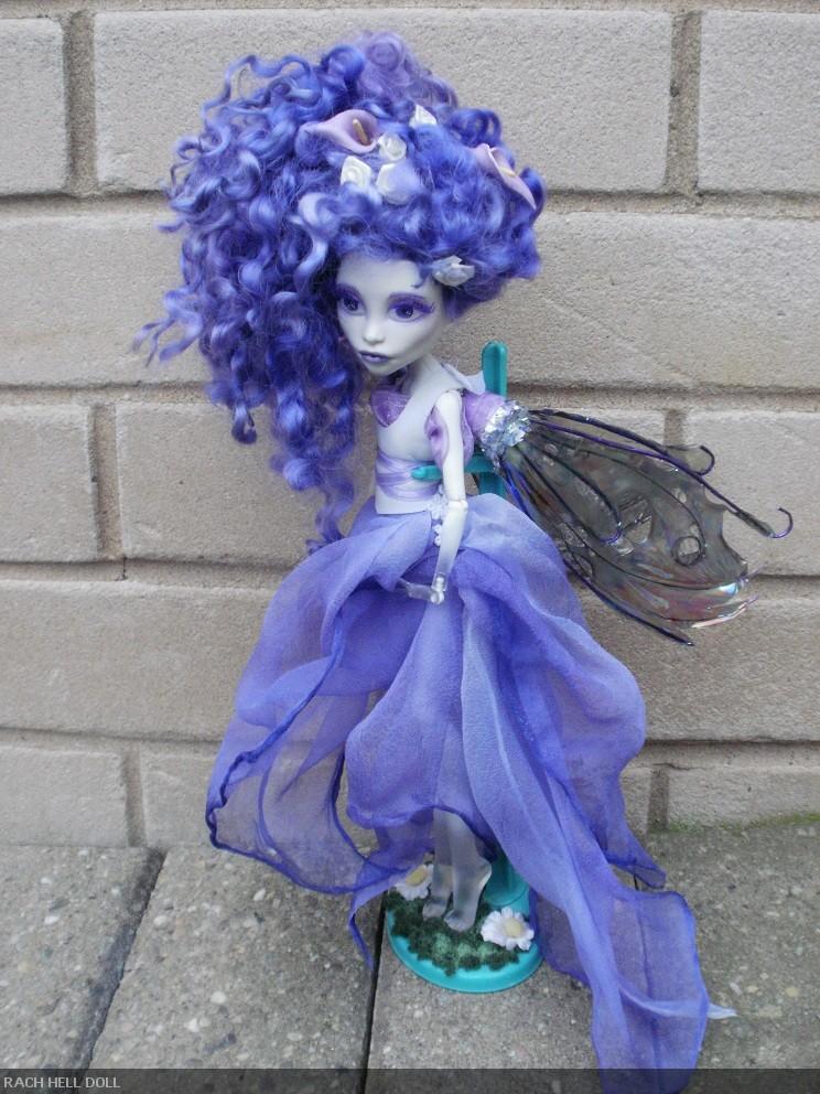 monster high custom repaint Hyacinth fairy by Rach-Hells-Dollhaus