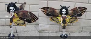Monster high custom deaths head hawk moth ooak