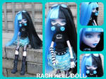 Monster high custom Kenzie cyber goth mh repaint
