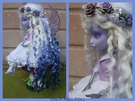 monster high custom repaint Nightmyst fairy mh