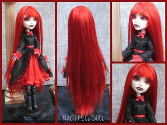 monster high custom repaint Nadine the vampire by Rach-Hells-Dollhaus
