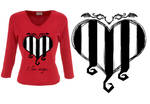 Striped passion model heart