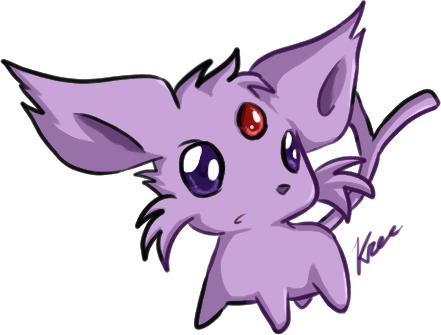 Chibi Espeon by say0ranEspeon And Umbreon Chibi