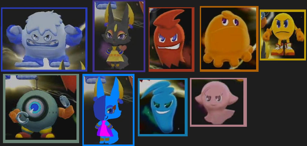 Pac Man Party Battle Poses By WoofaXLucy321 On DeviantArt