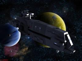 Armstrong-Class Heavy Cruiser by ILJackson