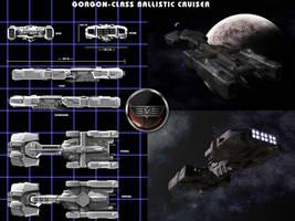 Caldari Gorgon Cruiser by ILJackson