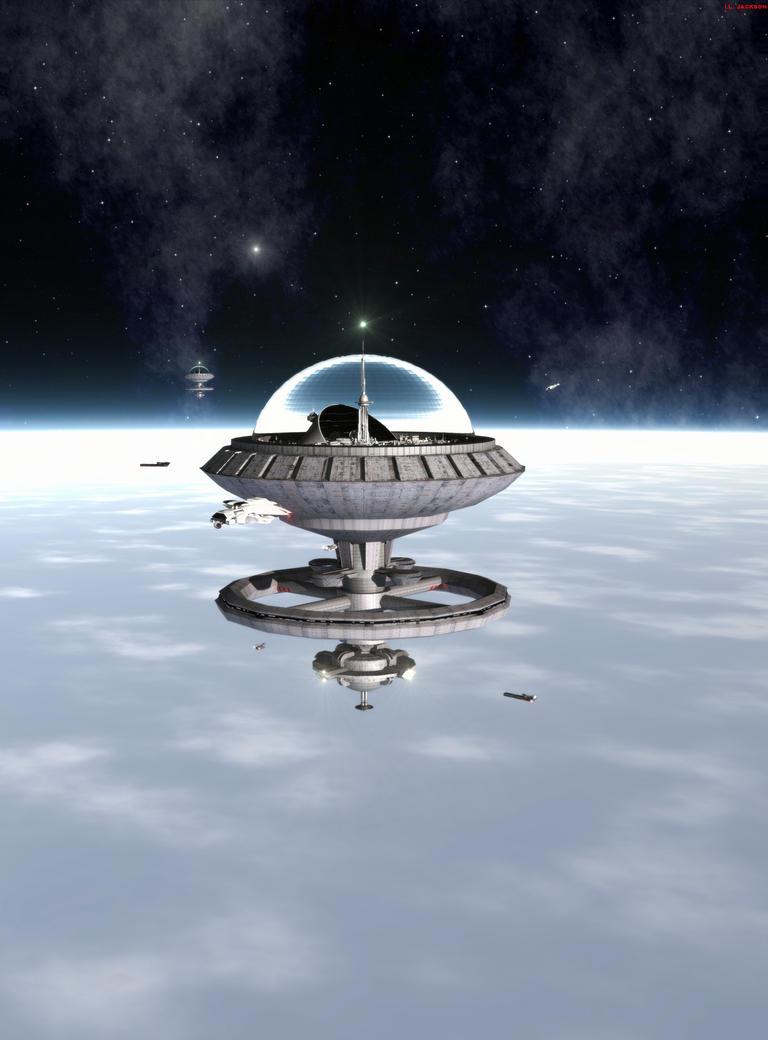 Merchant Space Station by ILJackson