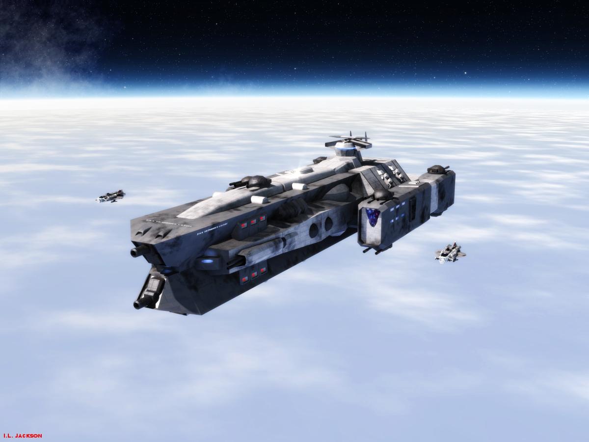 Victorious Class Heavy Cruiser by ILJackson