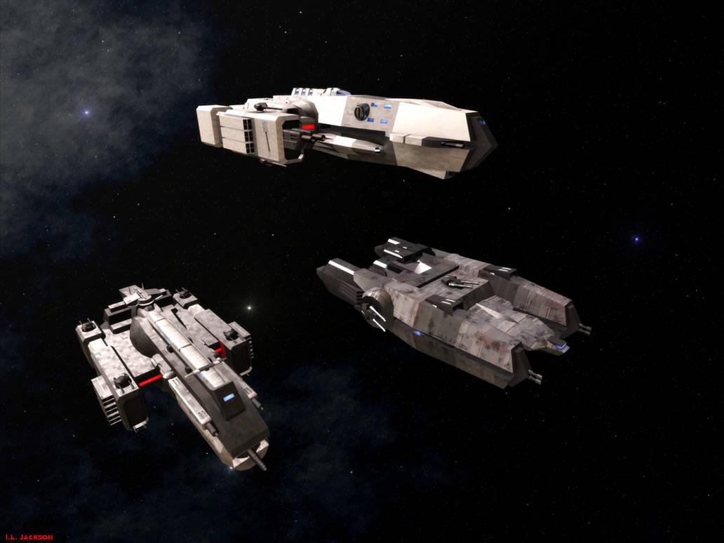 Stellar Navy Frigates by ILJackson