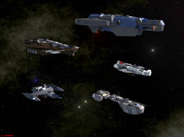 Stellar Navy Pinnaces by ILJackson