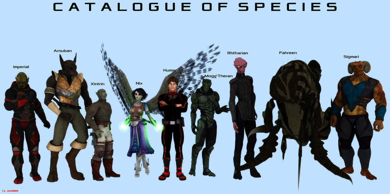 major sentient species visual guide by iljackson on deviantart