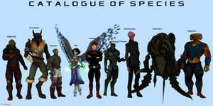 Major Sentient Species Visual Guide