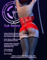 Club Orpheus Fetish Friday Flyer