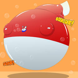 [T] Sam the Puffy Bubblefox by Elemento-Wolf