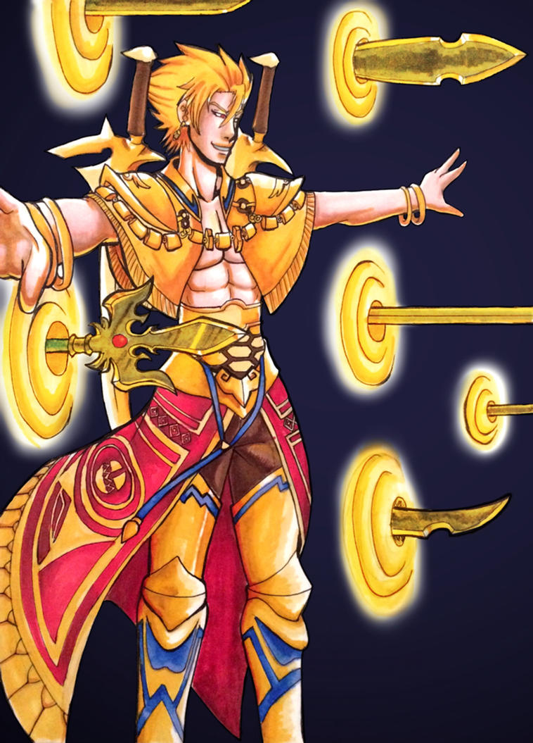 Fate/Prototype: Archer Gilgamesh by yuki-bushido