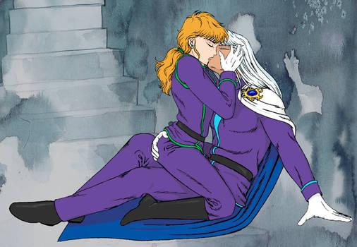 Zoisite and Kunzite kissing