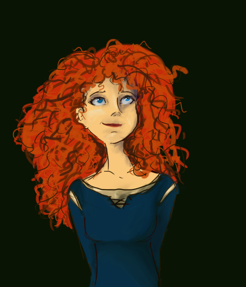 Merida WIP by rebornfirebird