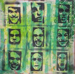 stencil self portrait series by MEIZR
