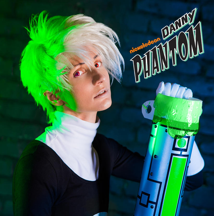 EVIL DANNY PHANTOM COSPLAY AVATAR + FENTOM THERMOS by KoujiAlone
