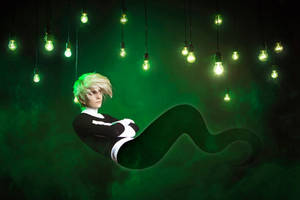 Danny Phantom cosplay: floating by KoujiAlone
