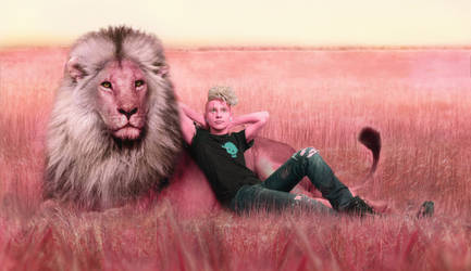 Pink Lars and the Lion by KoujiAlone