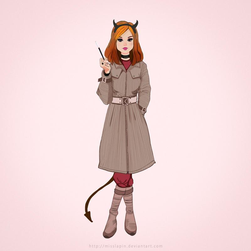 devilish girl by misslapin