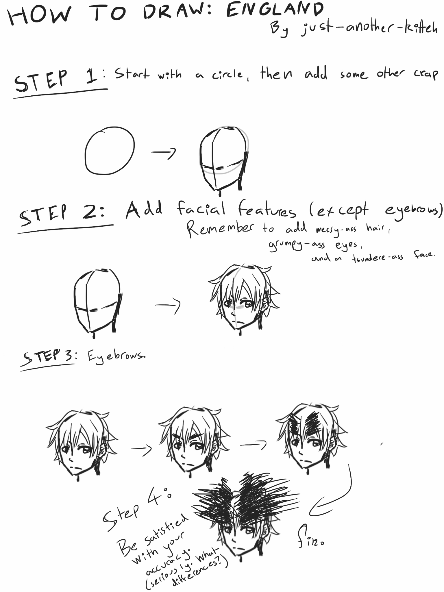 Hetalia: How to draw England (accurately) by Just-another ...