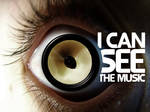 I can see the music