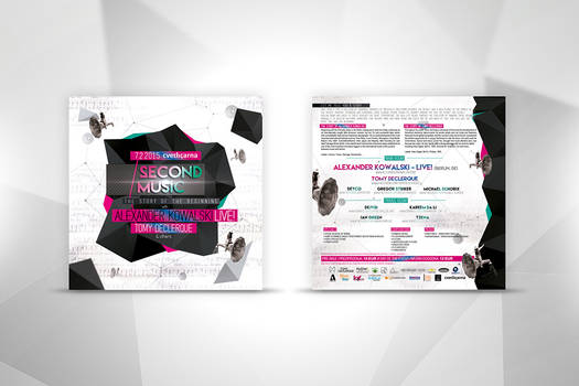 Second Music event flyer