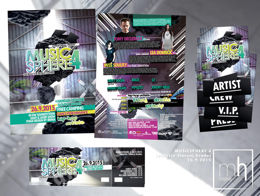 Music Sphere 4 flyer and stuff by mprox