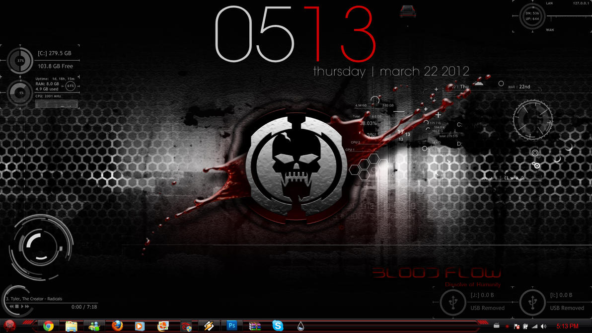 My first rainmeter desk top by matthewcore on deviantart for Deviantart rainmeter