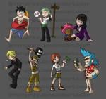 One Piece Keychains Complete