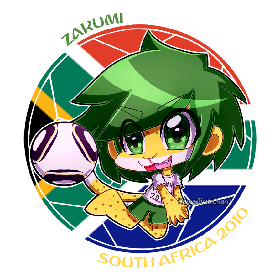 world cup mascots zakumi by kawaiirebichan on deviantart