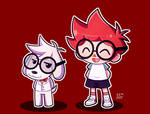 Mr. Peabody and Sherman Animal Crossing Style by RBKiut